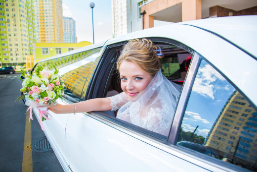 Here Comes the Bride… in a Limousine!